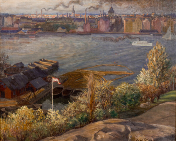 SALLBERG Harald (1895-1963) - 'Stockholm harbour'.
