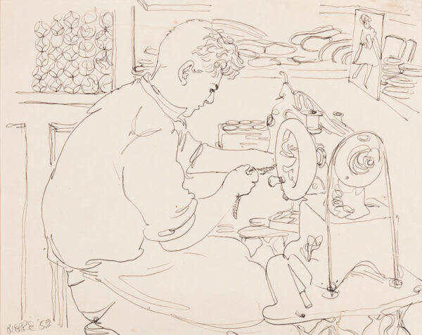 SAMUELSON Peter (1912-1996) - 'Pierre' Pen and ink.