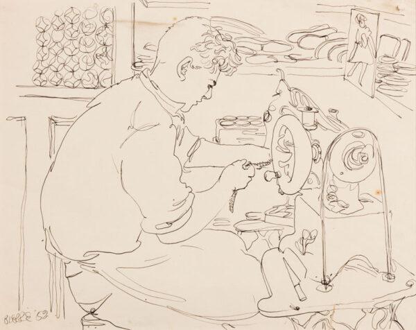 SAMUELSON Peter (1912-1986) - 'John the Shoe Maker'.