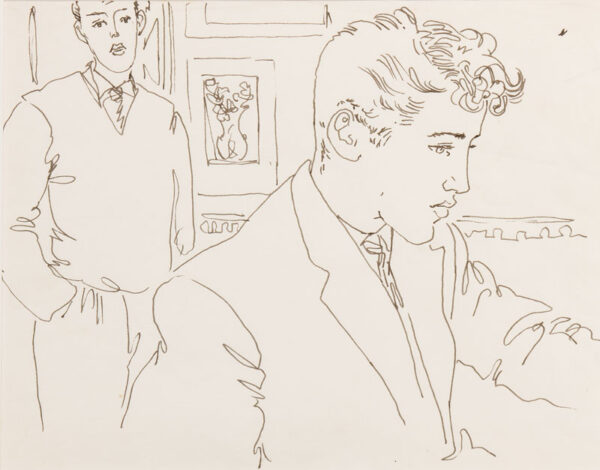 SAMUELSON Peter (1912-1986) - Pen and ink.