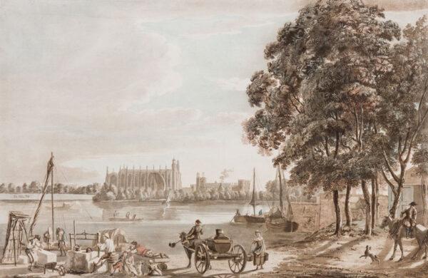 SANDBY Paul R.A. (1731-1809) - 'Eton College from Crown Corner'.