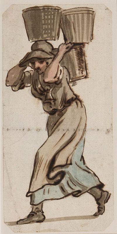 SANDBY Paul R.A (1727-1809) - A fishwife.