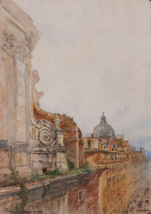 SANDHAM Henry (Canadian 1842-1910) - 'Rome, from Studio window'.