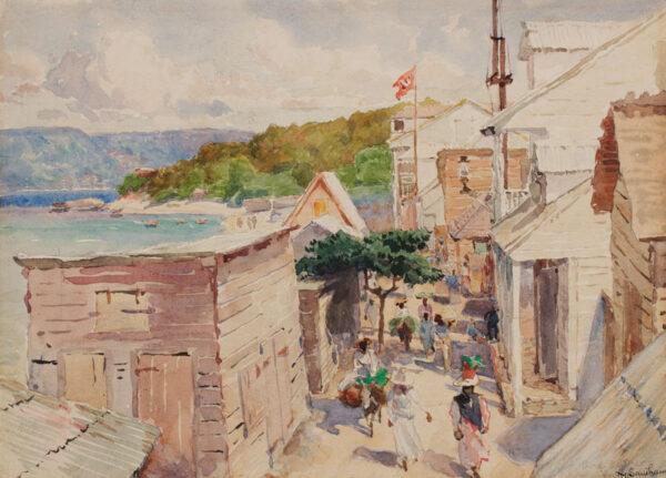 SANDHAM Henry (Canadian 1842-1910) - 'Haiti, Port de Paix, looking East'.