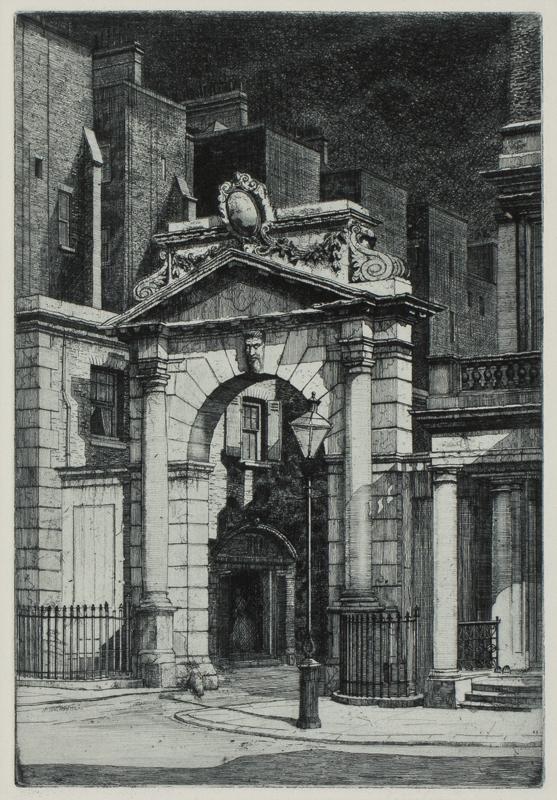 SCHNELL Gabriel van (Exh: 1917-1934) - 'South Kensington Night'.