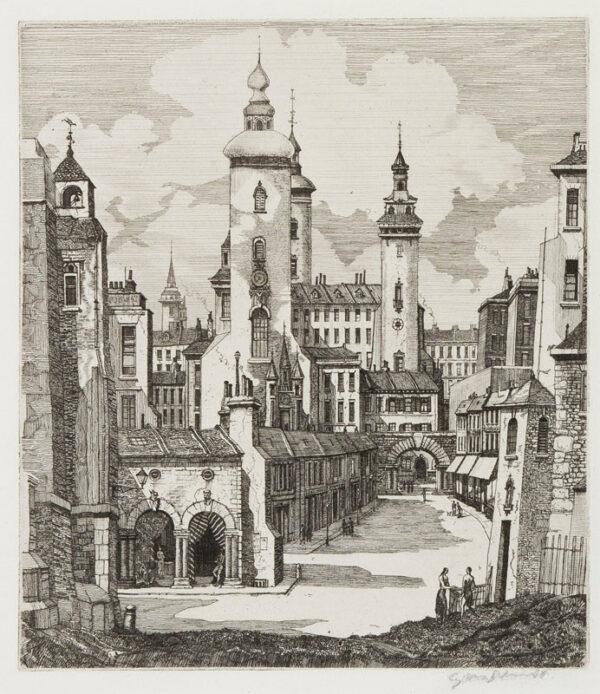 SCHNELL Gabriel van (Twentieth-Century) - 'El-Bourrah-Sid'; capriccio.