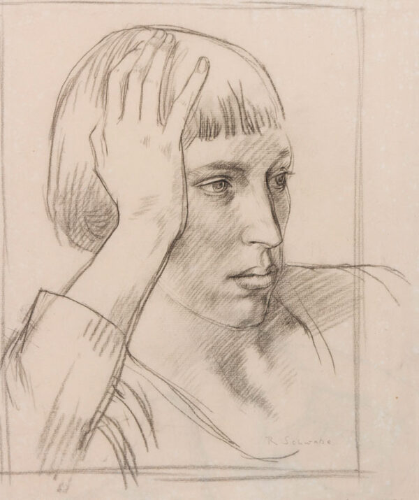 SCHWABE Professor Randolph N.E.A.C. (1885-1948) - Head of a Girl.