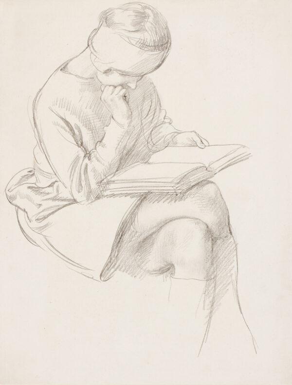 SCHWABE Professor Randolph N.E.A.C. (1885-1948) - 'Reading'.
