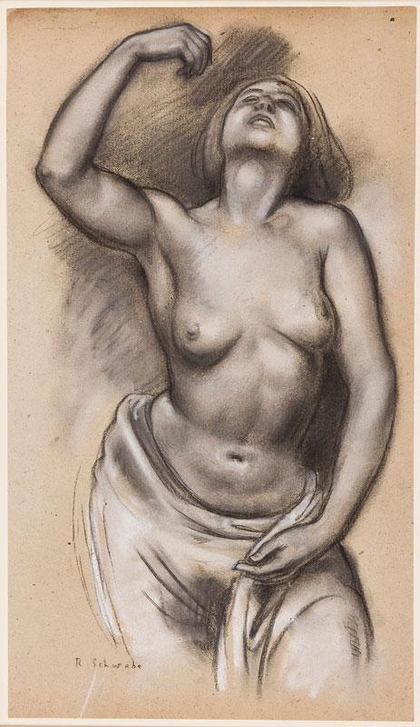 SCHWABE Professor Randolph N.E.A.C. (1885-1948) - Figure study.