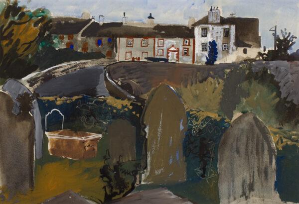 SCHWARZ Hans N.E.A.C. R.W.S. R.P. (1922-2003) - Welsh village.