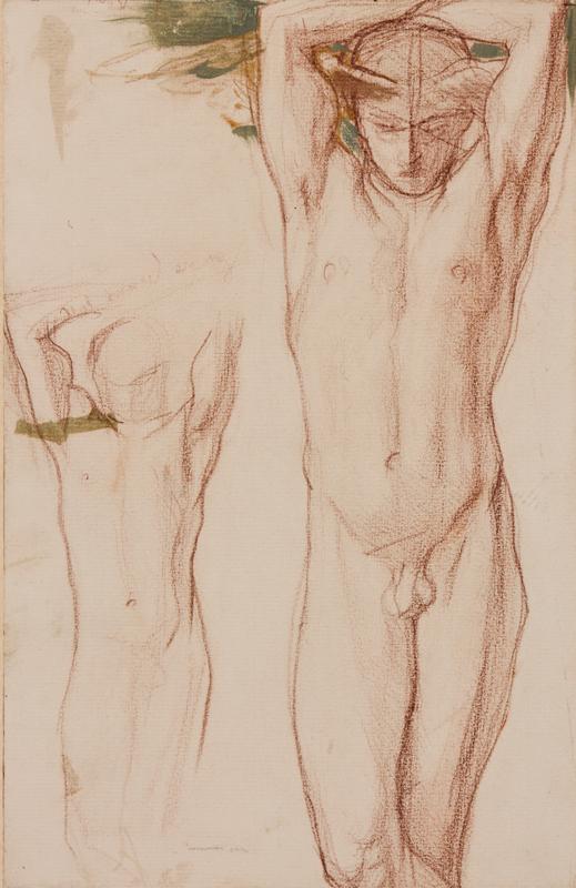 SHANNON Charles Hazelwood R.A. (1863-1937) - Figure study.