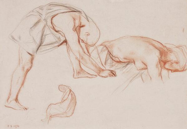 SHANNON Charles Hazelwood R.A. N.P.S. (1863-1937) - Figure study.