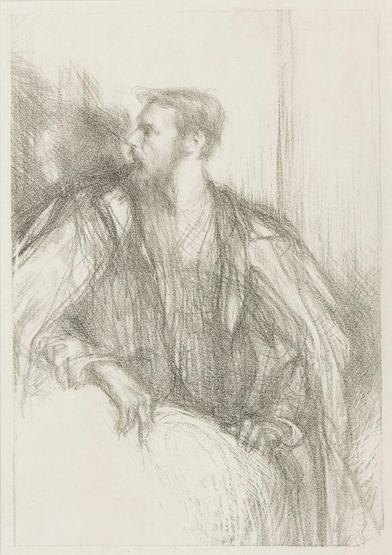 SHANNON Charles Hazelwood R.A. (1863-1937) - 'Thomas Sturge-Moore' (R.