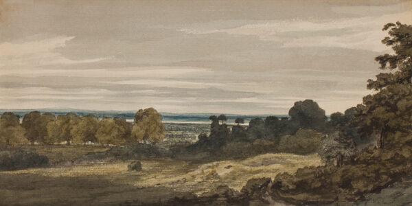 SHERLOCK William Pengree (fl.1800-1820) - 'River Thames from near Greenwich'.