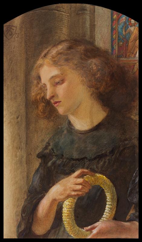 SHIELDS Frederick James (1833-1911) - 'The Harvest Offering'.