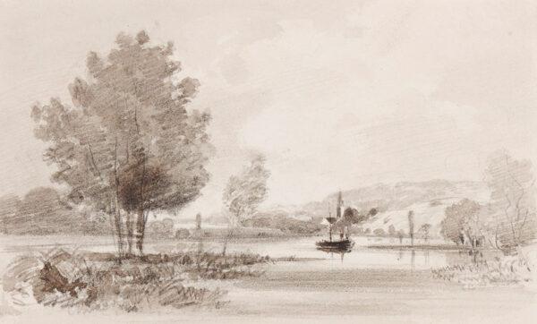 SHOTTER BOYS Thomas (1803-1874) - River landscape.