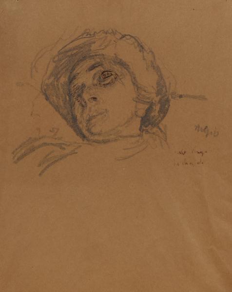 SICKERT Walter Richard R.A. N.E.A.C. (1860-1942) - 'La Chiozzota',  probably 'La Inez', from Chioggia.