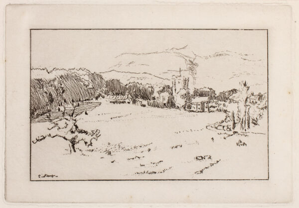 SICKERT Walter Richard (1860-1942) - 'Chagford', the small plate.