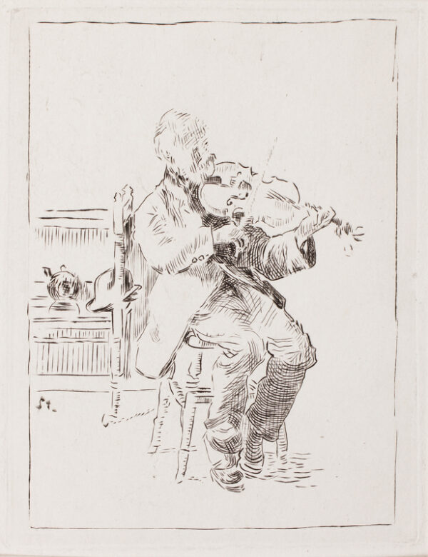 Walter Richard SICKERT R.A. N.E.A.C. (1860-1942) - 'The Old Fidler' (LB 187) Etching.