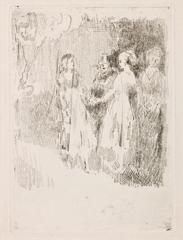 Walter Richard SICKERT R.A. N.E.A.C. (1860-1942) - 'The Rehearsal' (B124) Teching.