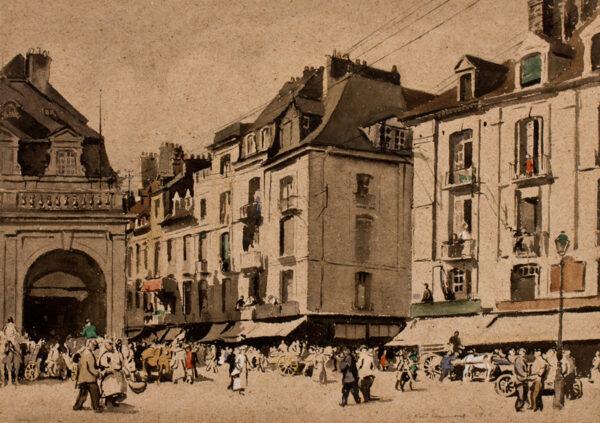 Simmonds S Noel (1909-1938) - Dieppe: the Quai Henri IV.