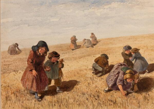 SLEIGH John (Exhibited: 1841-1872) - 'The little gleaners'.