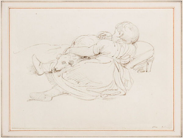 SMIRKE Robert R.A. (1752-1845) - Child and dog.