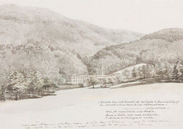 SMITH Thomas (fl.1780-1822) - 'Front view of the Convent of Vallombrosa, 18 miles east of Florence…'.