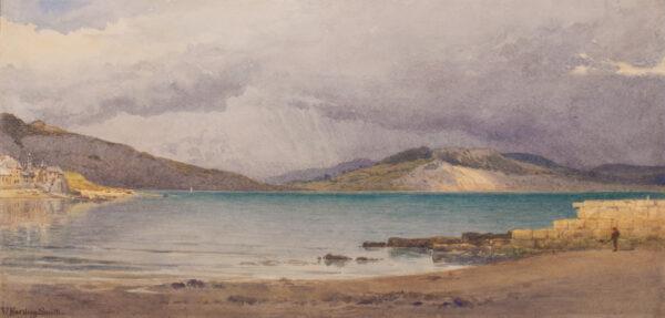 SMITH William Harding (1848-1922) - The coast at Lyme Regis, Dorset.