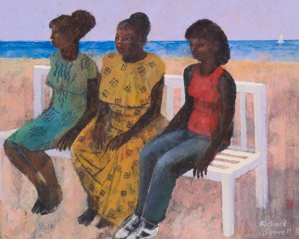 SORRELL Richard R.W.S. R.W.S. (b.1948) - 'A Bench in Barbados'.