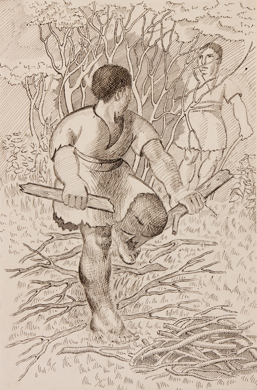 SPENCER Gilbert R.A. (1892-1979) - 'The man who picked up sticks on the Sabbath'.