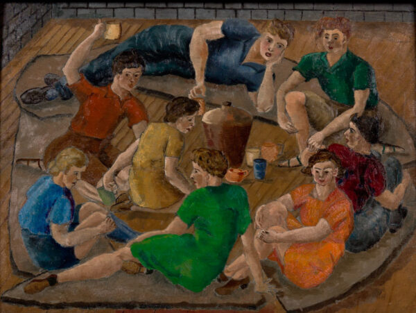 SPENCER Pamela (1924-2012) - Students at St Martins (the artist was there 1945-1951).