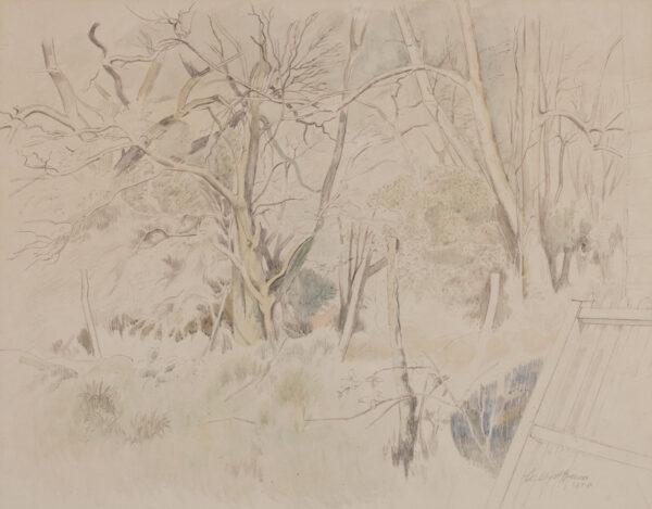 SPENCER Gilbert R.A (1892-1979) - 'Corner of the Garden'.