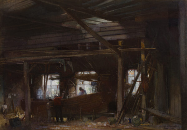 SQUIRRELL Leonard Russell R.W.S. (1893-1979) - The Ipswich boat builders.