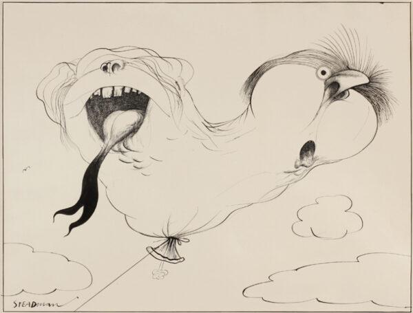 STEADMAN Ralph (b.1936) - Tied together: Harold Wilson and George Brown.