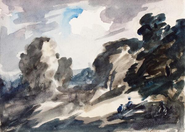 STEER Philip Wilson N.E.A.C. (1860-1942) - Woods near Bridgnorth.