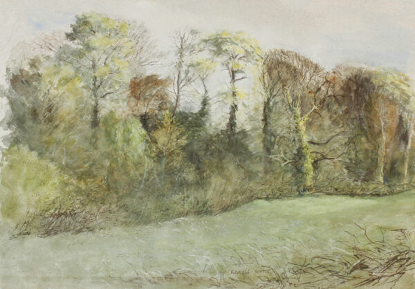 STONE Reynolds (1909-1979) - 'Autumn trees at the Old Rectory from the Water Board Field'.