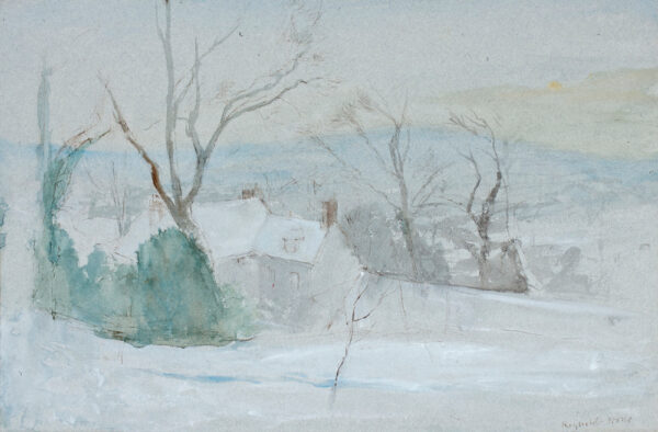 STONE Reynolds (1909-1979) - 'Old Rectory, Winter', Litton Cheney.