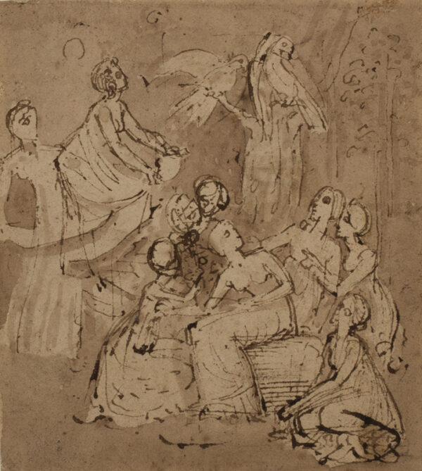 STOTHARD Thomas (1755-1834) - Composition studies.