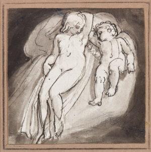STOTHARD Thomas R.A. (1755-1834) - 'Venus and Cupid'.