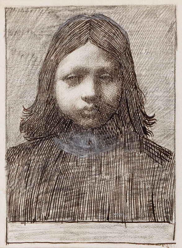 STRANG William R.A. (1859-1921) - Head of a child.