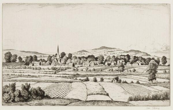 STRANG Ian R.E. (1886-1952) - Buckinghamshire landscape.