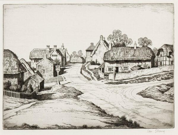 STRANG Ian R.E. (1886-1952) - A Buckinghamshire Village.