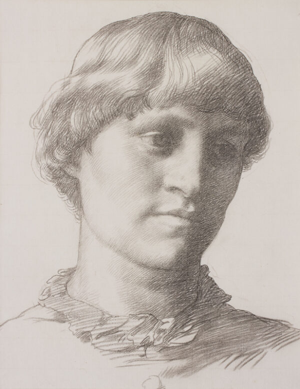 STRANG William R.A. (1859-1921) - Head of a girl.