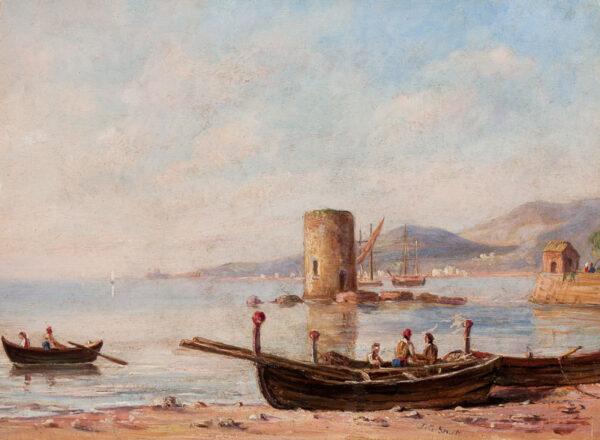 STRUTT Jacob George (1790-1864) - On the ?Amalfi coast.