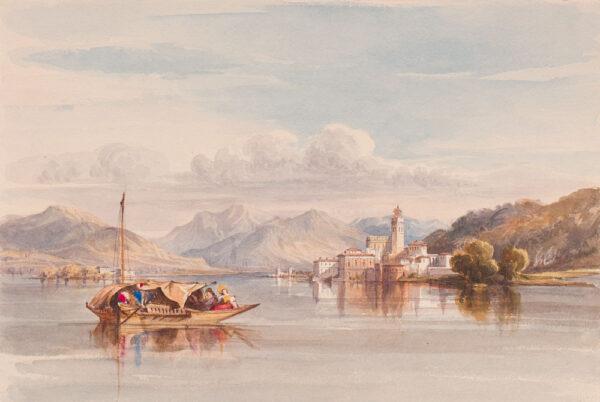 CRICHTON-STUART Lady James (Née Hannah Tighe) (1800-1872) - Italian Lake.