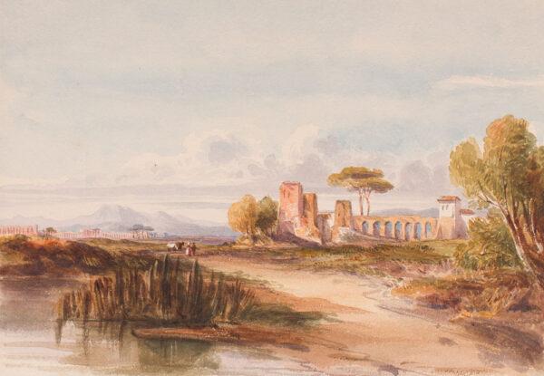CRICHTON-STUART Lady James (Née Hannah Tighe) (1800-1872) - Roman Campagna.