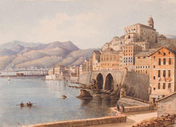 CRICHTON-STUART Lady James (Née Hannah Tighe) (1800-1872) - 'Ramparts, Genoa'.
