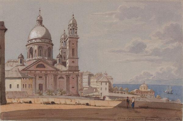CRICHTON-STUART Lady James (Née Hannah Tighe) (1800-1872) - 'Chiesa Carignano, Genoa'.