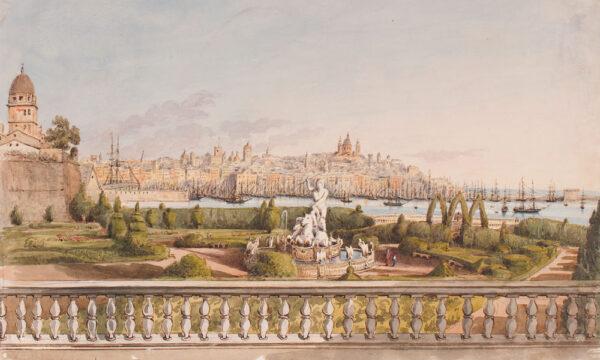 CRICHTON-STUART Lady James (Hannah Tighe 1800-1872) - 'Villa Doria Garden, Genoa'.